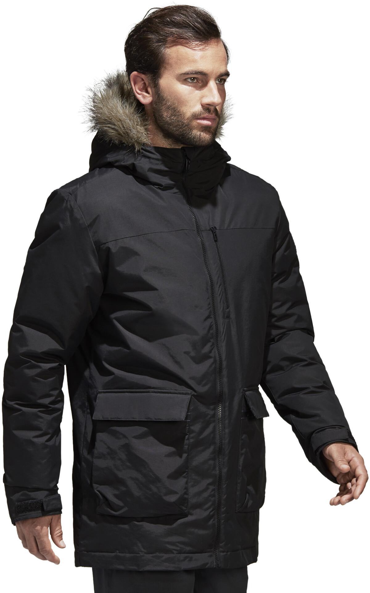 Adidas Men's Xploric Parka Black Jacket | GJSportLand